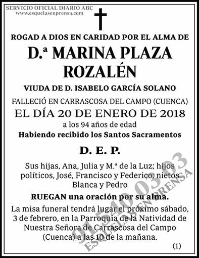 Marina Plaza Rozalén